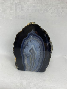 Natural Agate end - natural stone paper weight - home decor or unique office display AEMD0029