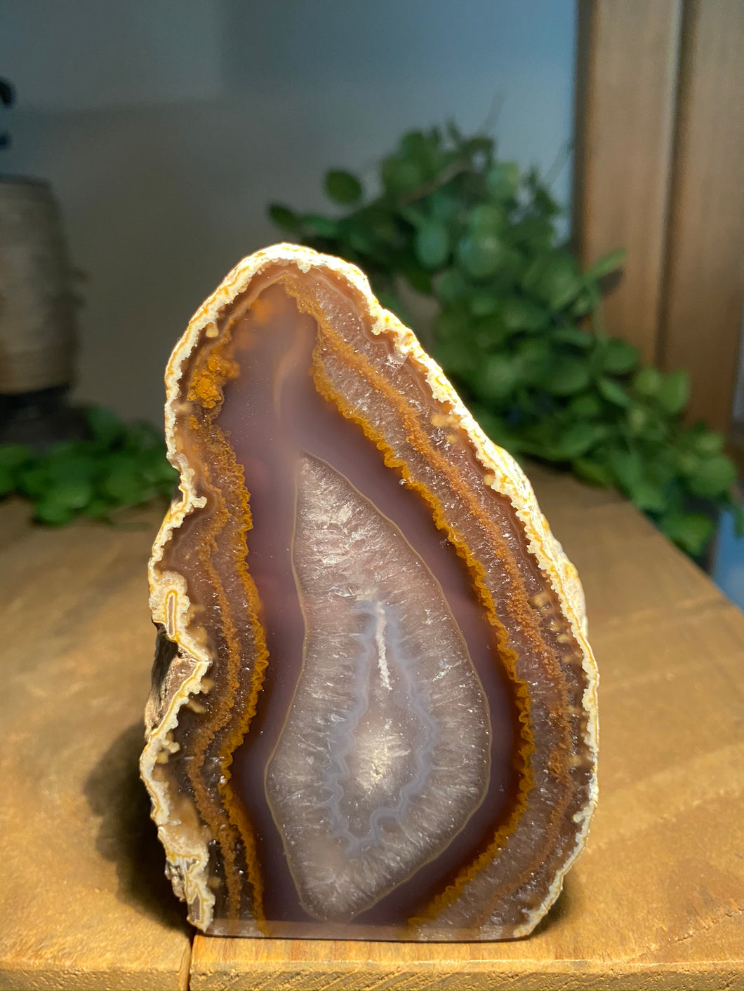 Natural Agate end - natural stone paper weight - home decor or unique office display AEMD0031