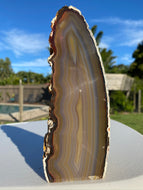 Natural Agate end - natural stone paper weight - home decor or unique office display AEMD0032