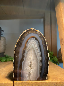 Natural Agate end - natural stone paper weight - home decor or unique office display