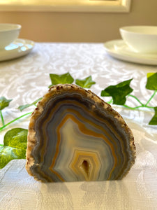 Natural Agate end - natural stone paper weight - home decor or unique office display AEMD0006