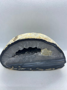 Freestanding Natural Agate Geode - home decor or unique office display