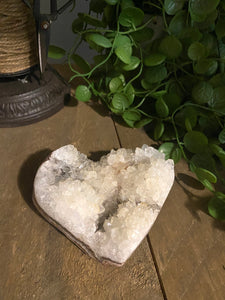 Natural Quartz crystal love heart