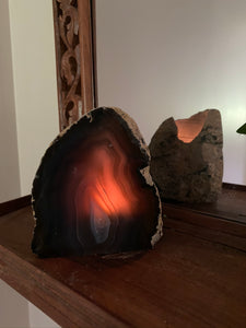 Natural Agate tea light Candle Holder, home décor