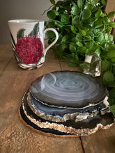 Load image into Gallery viewer, Natural polished Agate Slice coasters- set of 4