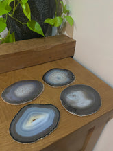 Load image into Gallery viewer, Natural polished Agate Slice drink coasters - Set of 4 24