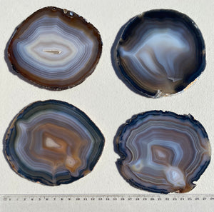 Natural polished Agate Slice drink coasters - Set of 4 NCMD00010