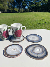 Load image into Gallery viewer, Natural polished Agate Slice drink coasters - Set of 4 NCMD0008