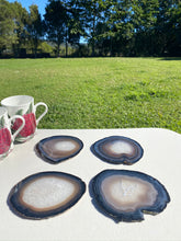 Load image into Gallery viewer, Natural polished Agate Slice drink coasters - Set of 4 NCMD0009