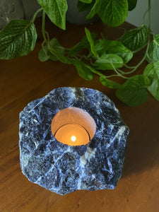 Sodalite Candle Holder