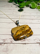 Load image into Gallery viewer, Picture Stone Jasper pendant set in sterling silver - necklace