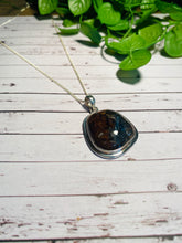 Load image into Gallery viewer, Pietersite pendant set in sterling silver - necklace