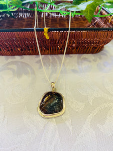 Pietersite pendant set in sterling silver - necklace