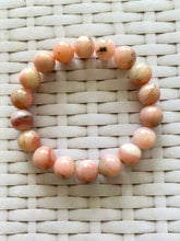 Load image into Gallery viewer, Pink Opal round bead bracelet