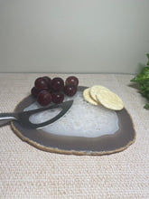 Load image into Gallery viewer, Polished Natural Agate slice - small cheese board or serving platter