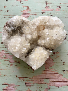 Quartz crystal love heart