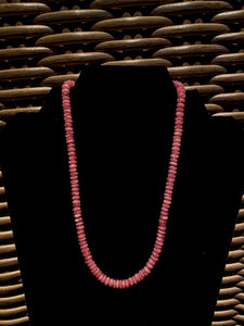 Rhodochrosite bead necklace