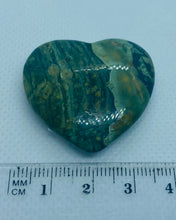 Load image into Gallery viewer, Rhyolite and Rainforest Jasper love heart