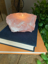 Load image into Gallery viewer, Large Rose Quartz tea light Candle Holder