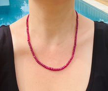 Load image into Gallery viewer, Ruby bead necklace