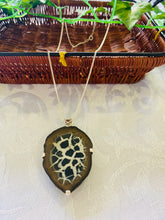Load image into Gallery viewer, Septarian Nodule pendant set in sterling silver - necklace