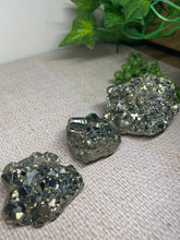 Load image into Gallery viewer, Small Pyrite cube cluster - two pieces