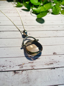 Smoky Quartz pendant set in sterling silver - necklace