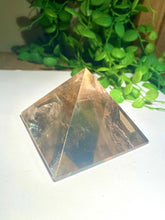 Load image into Gallery viewer, Smoky Quartz pyramid, paper weight or unique display piece - Large