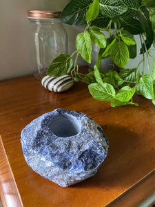 Blue sodalite Candle Holder