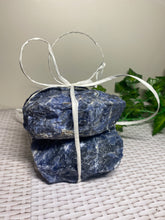 Load image into Gallery viewer, Set of 2 Sodalite tea light Candle Holder - natural stone