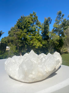 White Quartz Crystal Cluster - home décor and table display