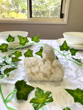 Load image into Gallery viewer, White Quartz Crystal Cluster - table display and unique home decor
