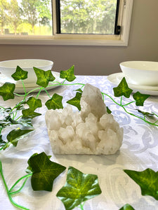 White Quartz Crystal Cluster - table display and unique home decor