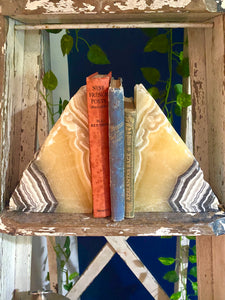Zebra Calcite book ends - home décor or office display