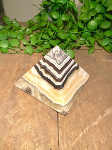 Zebra Calcite pyramid, paper weight or unique display piece - Large