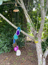 Load image into Gallery viewer, coloured agate windchime, patio or home decor