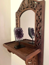 Load image into Gallery viewer, Natural Amethyst Crystal on black display stand - table piece