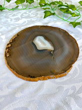 Load image into Gallery viewer, large Natural agate polished slice - unique cheese board or serving platter