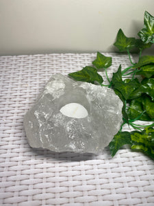 Quartz tea light Candle Holder