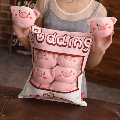 Piggie Pillow Case Plushie