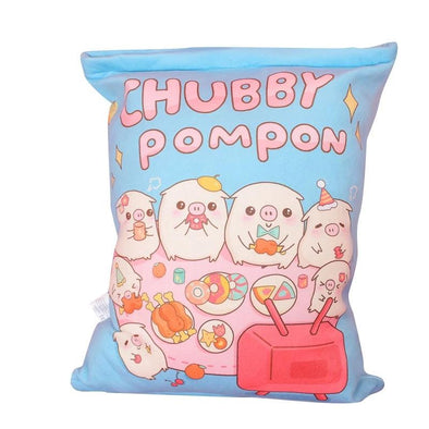 Chubby Pompon Pillow Case Plushie