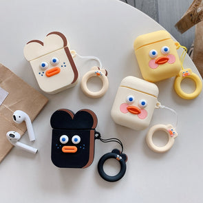 Surprised Toast Airpods Case