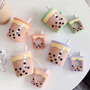 Boba Tea Airpods Case