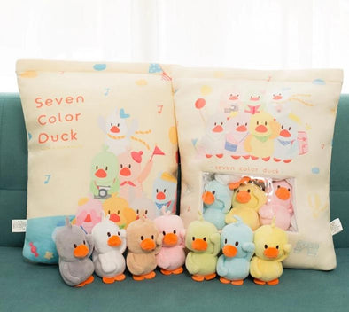 Duckie Gang Pillow Case Plushie