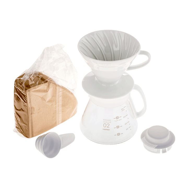 V60 Dripper & Pot White Coffee Maker Set - La Boheme Cafe - Pražírna výběrové kávy