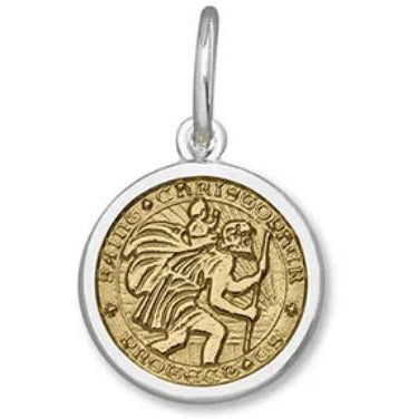 Lola St. Christopher Pendant Gold Center