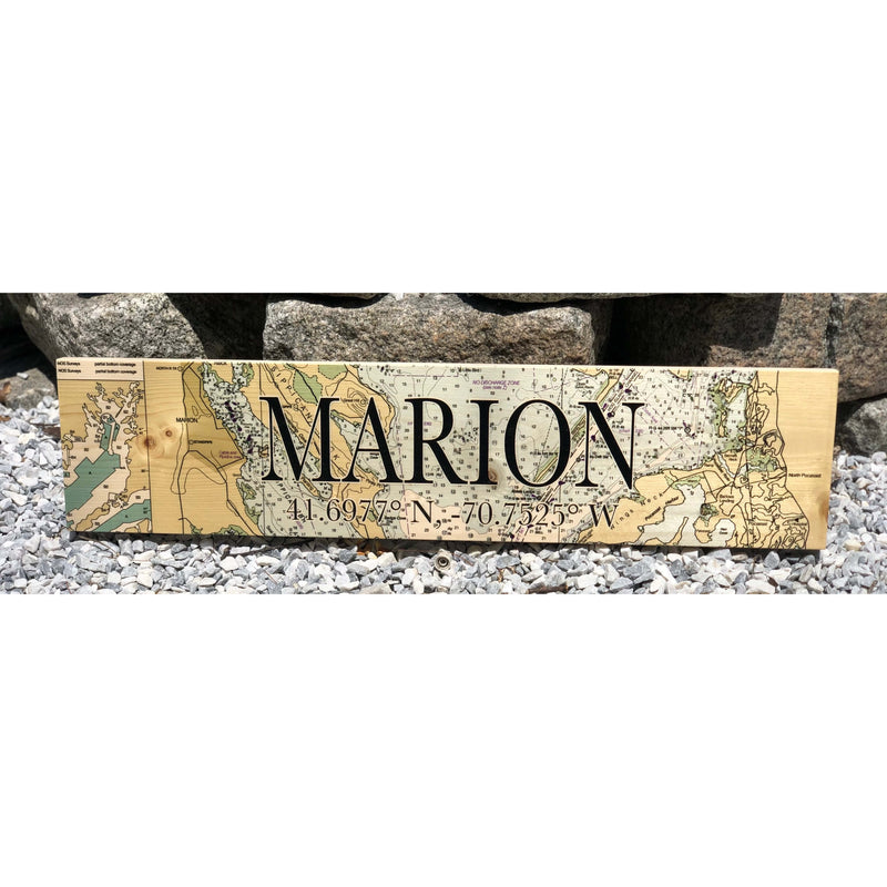 Marion Coordinate Sign (24 × 5.5 inches)