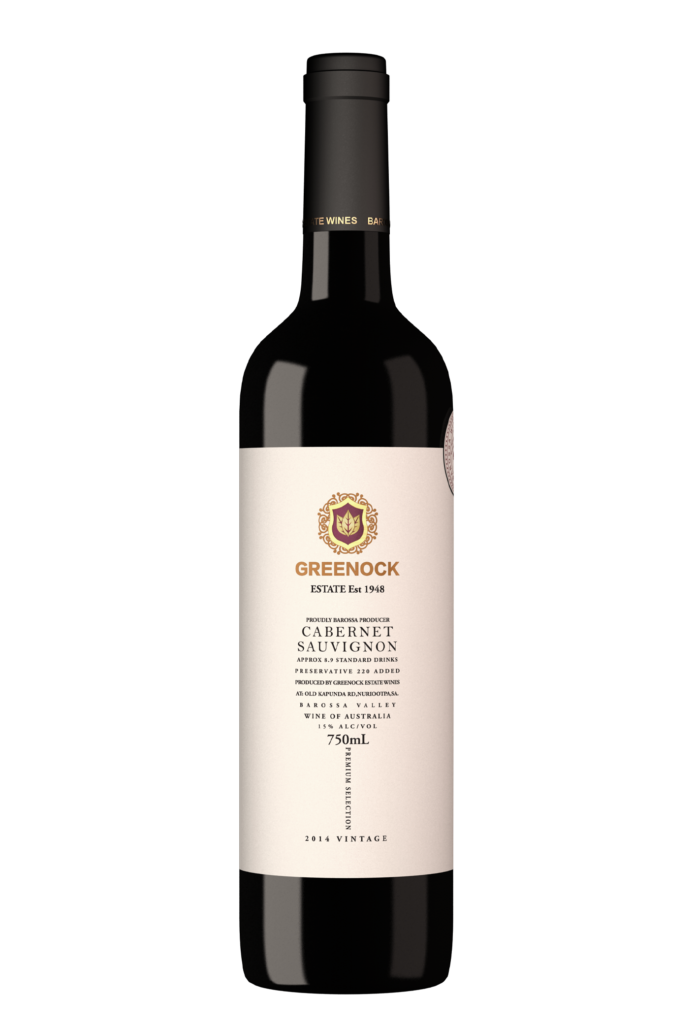 2016 Greenock Estate Barossa Valley Cabernet Sauvignon