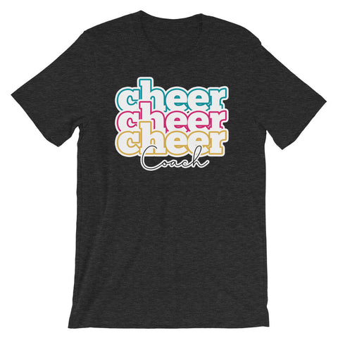 Triple Line Cheer Coach Shirt - Cheer Coach Shirts