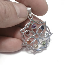 Load image into Gallery viewer, STONE PENDANT | 925 silver with CHAKRA stones | SILVER JEWELLERY